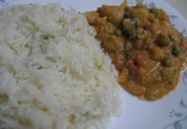 Ghee Rice with Gravy